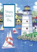 Father's Day Card-Harbour And Lighthouse